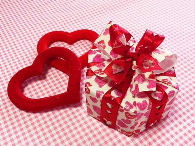 バレンタイン2017 - 六角形の箱の包み方