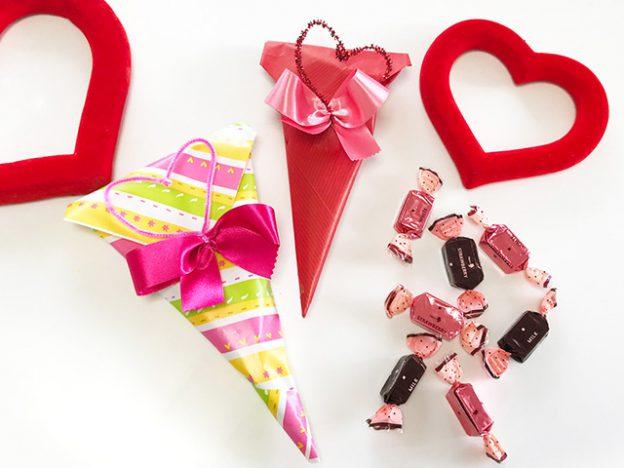 バレンタイン2018 - 小さなチョコやキャンディを包みましょう